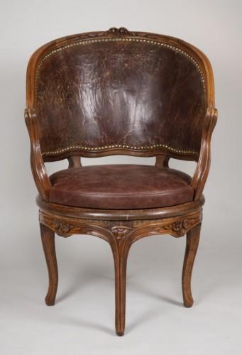 Antiquités - Louis XV Cabinet Armchair