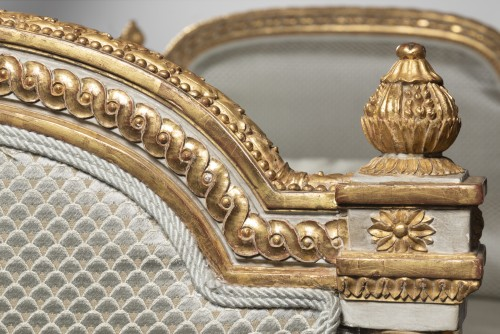 Louis XVI Bed of rest  stamped Georges Jacob - Furniture Style Louis XVI