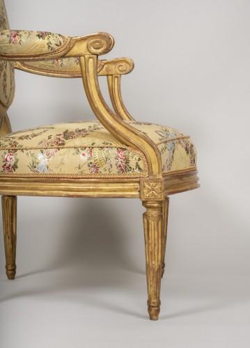 Set of 6 Louis XVI  armchairs by Georges Jacob - Louis XVI
