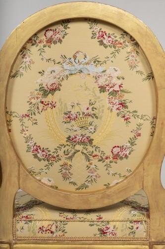 Louis XVI - Set of 6 Louis XVI  armchairs by Georges Jacob
