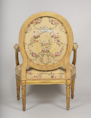 Antiquités - Set of 6 Louis XVI  armchairs by Georges Jacob