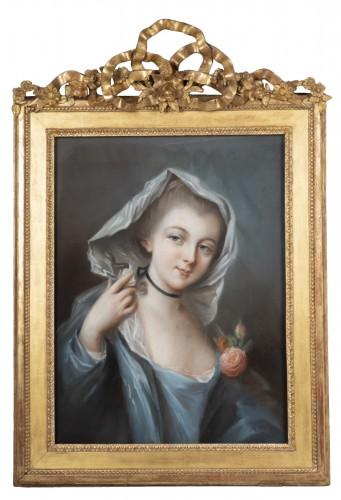 Student of François Boucher, Portrait of young lady