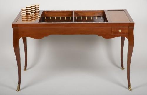 Louis XV mahogany tric trac table - Louis XV