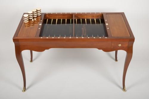 Louis XV - Louis XV mahogany tric trac table
