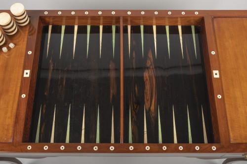 Antiquités - Louis XV mahogany tric trac table