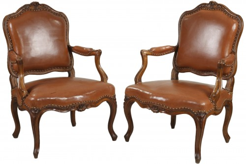 Pair Of Armchairs stamped by Nogaret