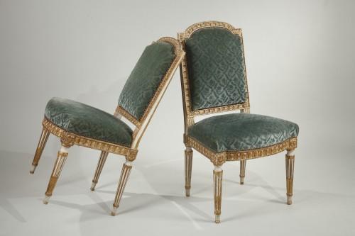 19th century - 12 Louis XVI style chairs