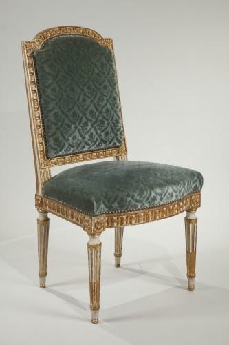 12 Louis XVI style chairs  -