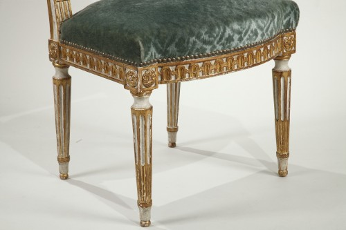 - 12 Louis XVI style chairs
