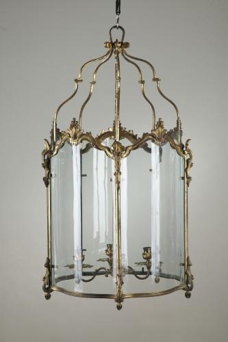Pair Of Gilt Bronze Lanterns - Lighting Style Louis XV