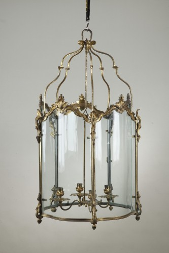 Pair Of Gilt Bronze Lanterns -