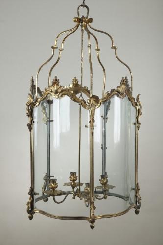 18th century - Pair Of Gilt Bronze Lanterns