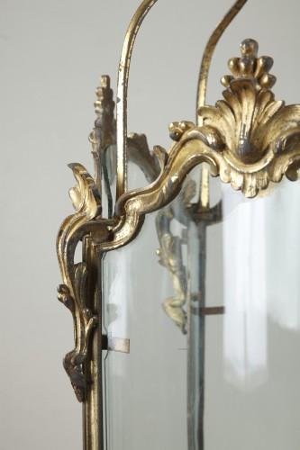 Antiquités - Pair Of Gilt Bronze Lanterns