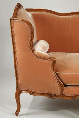 """Seating  - Pair of Louis XV """"veilleuses"""" sofas"""