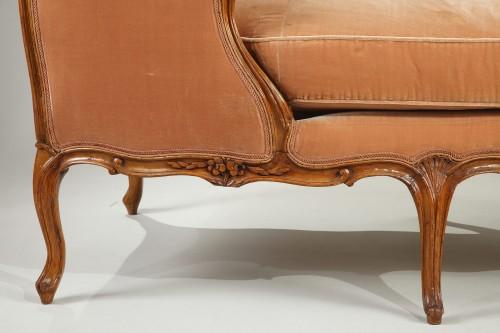 """Pair of Louis XV """"veilleuses"""" sofas -"""