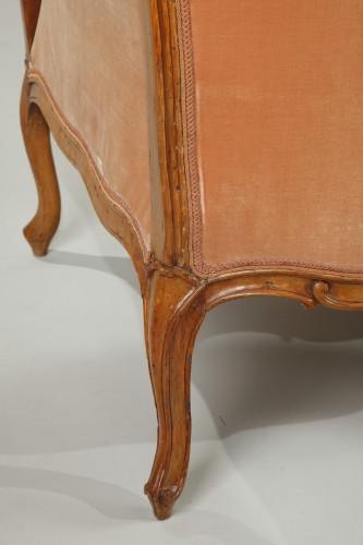 "Antiquités - Pair of Louis XV ""veilleuses"" sofas"