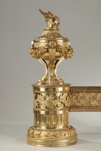 Pair of Louis XVI andirons -
