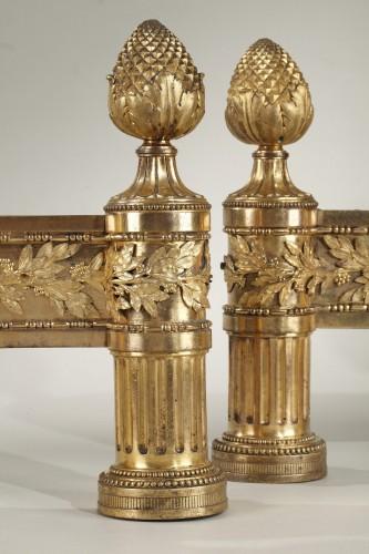 Antiquités - Pair of Louis XVI andirons