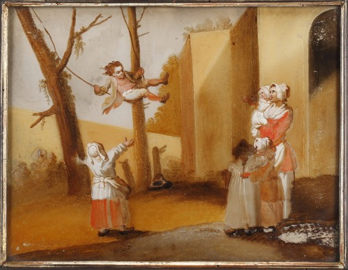 Paintings & Drawings  - The Spanking And The Swing - 18th century school