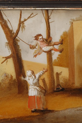 The Spanking And The Swing - 18th century school -