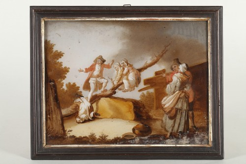 Antiquités - The Spanking And The Swing - 18th century school
