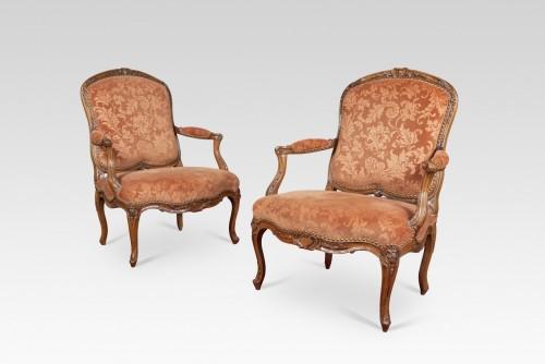 18th century - Pair Of Louis XV Armchairs