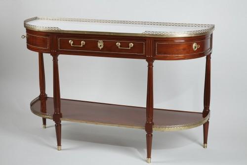 Demi lune Mahogany Console - Furniture Style Louis XVI