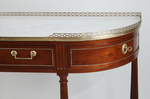 Demi lune Mahogany Console - Louis XVI