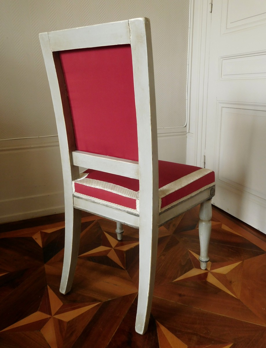 ... Empire   Pair Of Empire Chairs Stamped Jacob Desmalter, Chateau De  Fontainebleau ...