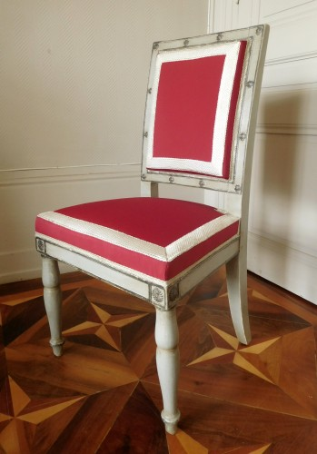 Seating  - Pair of Empire chairs stamped Jacob Desmalter, Chateau de Fontainebleau