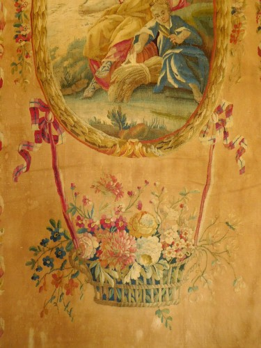 Tapestry & Carpet  - 18th century Aubusson tapestry - Ceres, allegory of summer