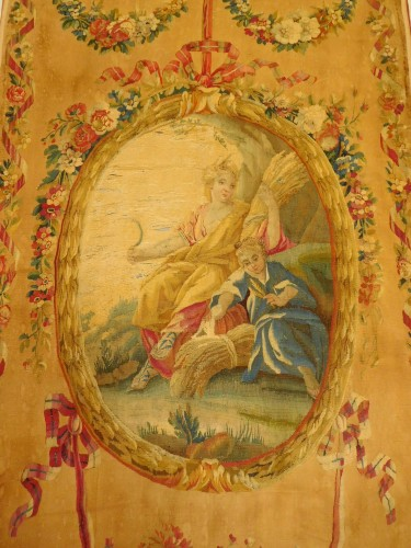 18th century - 18th century Aubusson tapestry - Ceres, allegory of summer