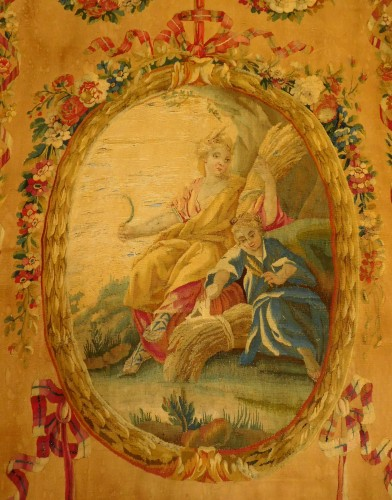 18th century Aubusson tapestry - Ceres, allegory of summer - Louis XVI