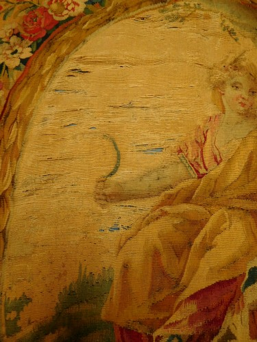 Antiquités - 18th century Aubusson tapestry - Ceres, allegory of summer