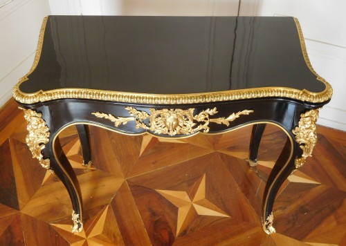 Antiquités - Game table / card table, mid 19th century