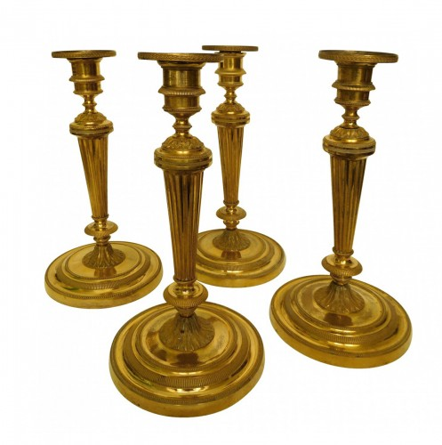 Set of  Louis XVI ormolu candlesticks attributed o Claude Galle
