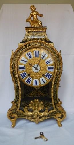 Regence marquetry cartel clock, Ledoux - Paris, 18th century circa 1730 - Clocks Style French Regence