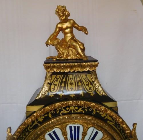 18th century - Regence marquetry cartel clock, Ledoux - Paris, 18th century circa 1730
