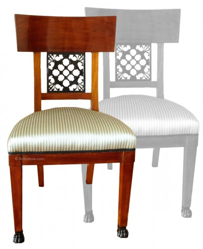 Pair of mahogany chairs, Consulate period, circa 1800