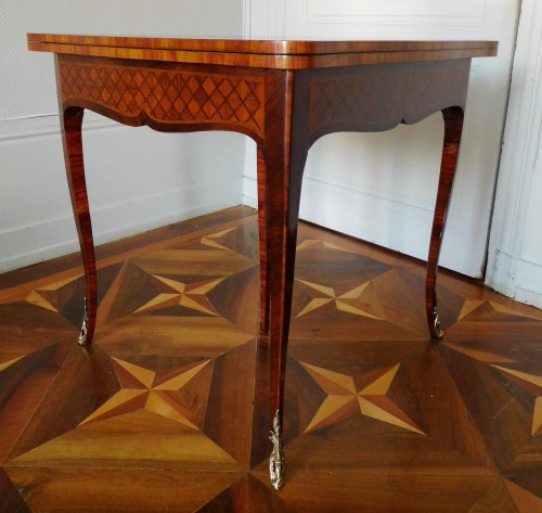 Furniture  - Louis XV marquetry game table / card table