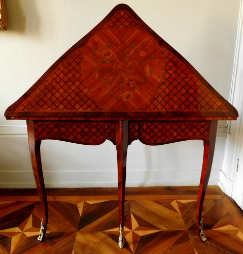Louis XV marquetry game table / card table  - Louis XV