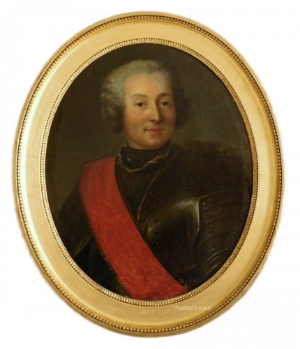 18th century French school - Portrait of an officer