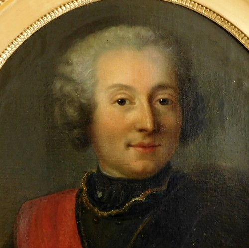 Paintings & Drawings  - 18th century French school - Portrait of an officer