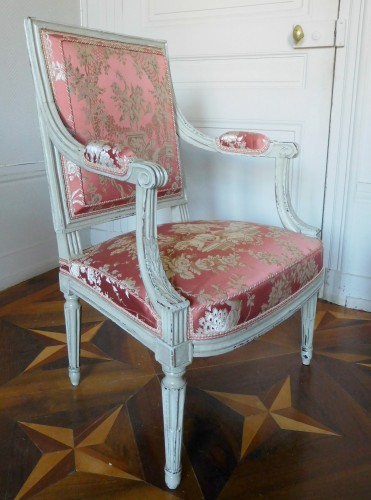 Pair of Louis XVI armchairs stamped JB Boulard - Seating Style Louis XVI