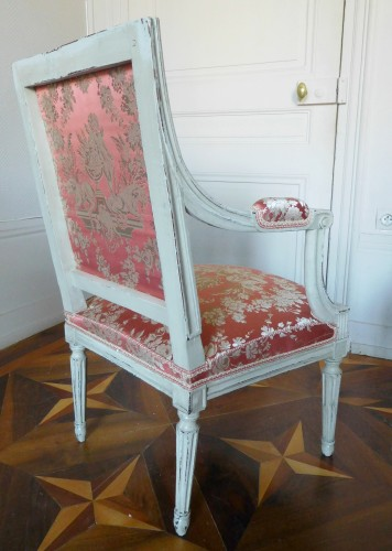 Pair of Louis XVI armchairs stamped JB Boulard - Louis XVI