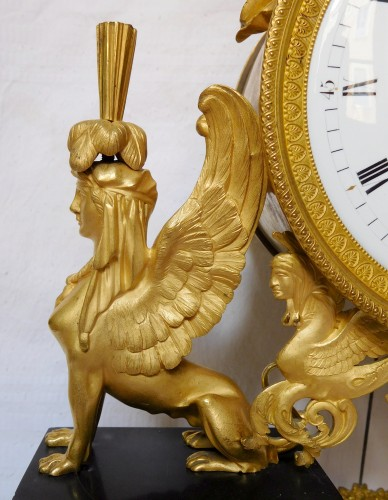 18th century - French late 18th century ormolu and marble clock