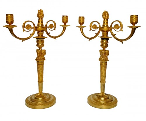 Pair of ormolu candelabra, Consulate period