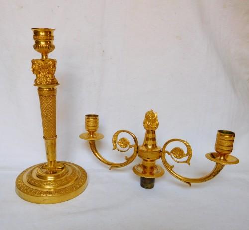 Pair of ormolu candelabra, Consulate period -