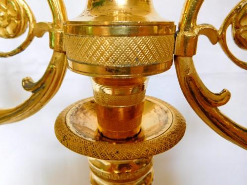 Antiquités - Pair of ormolu candelabra, Consulate period