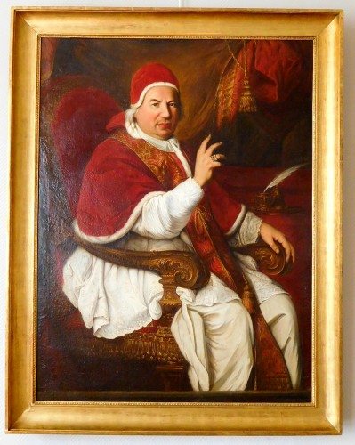 18th century French school, portrait of Pope Benedict XIV
